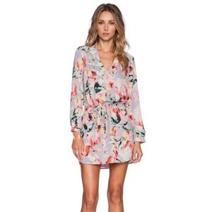 Eight Sixty Purple Floral Dress